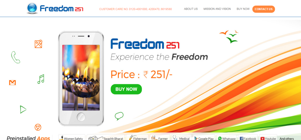 Book Freedom 251 smart phone online